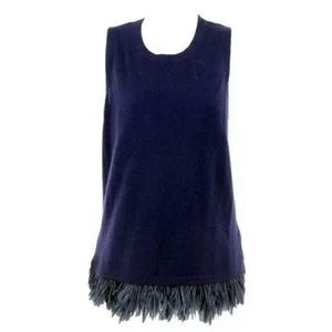 J Crew Italian Cashmere Feather Shell NEW Navy